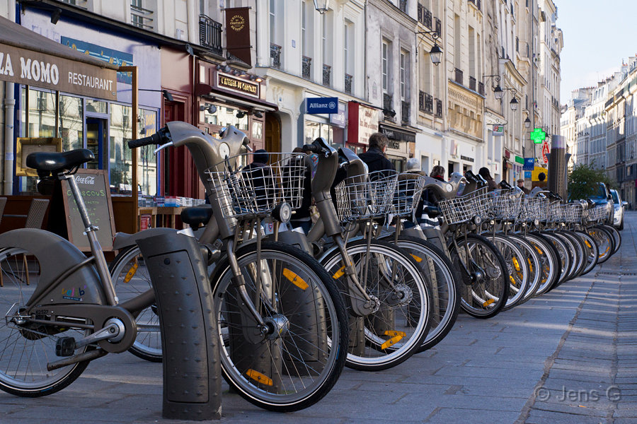 Bycykler i Paris