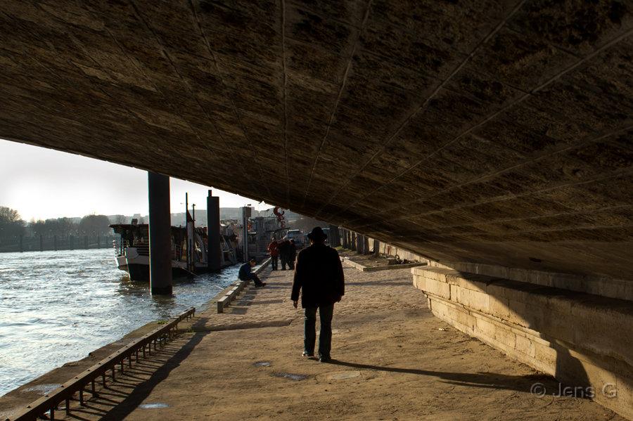 Under en bro ved Seinen
