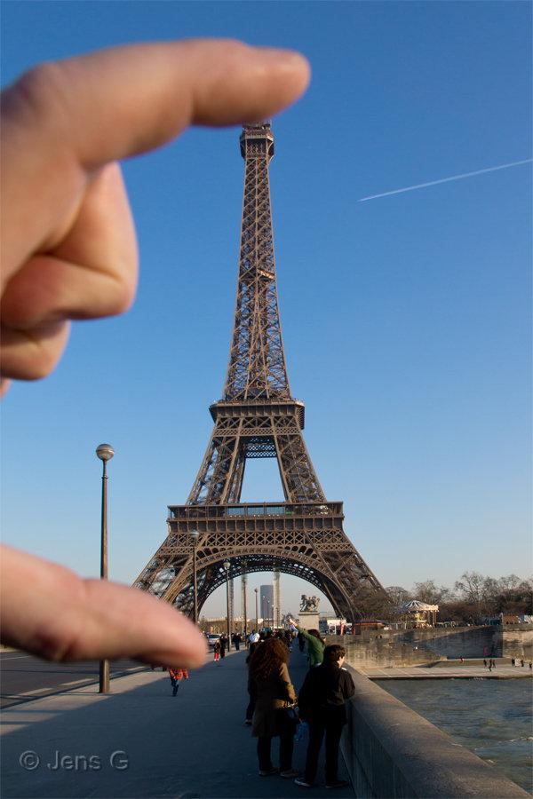 Eiffeltårnet er slet ikke så stort