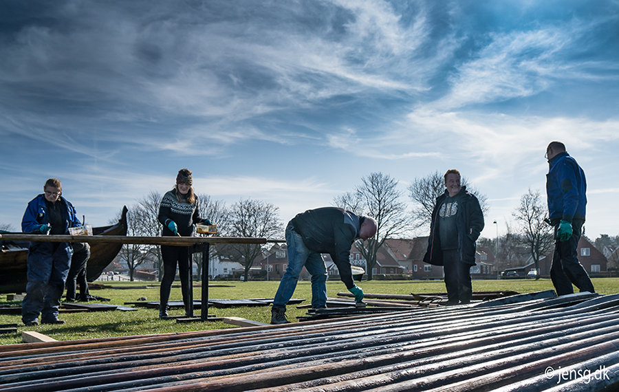 Forårstjæring ved vikingeskibshallen i Roskilde
