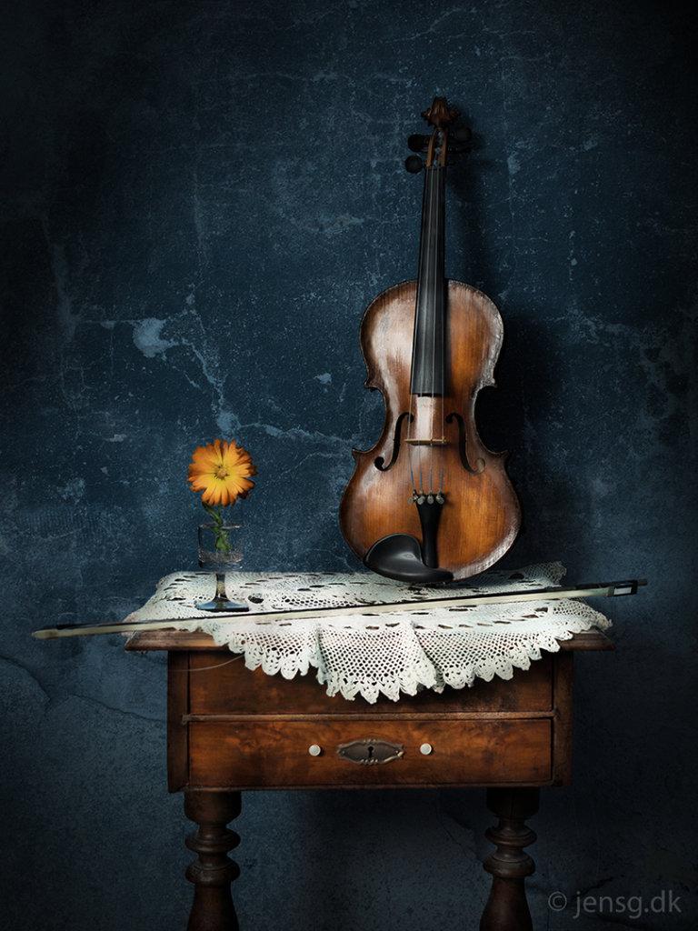 Stilleben med violin